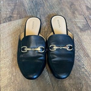 Merona black loafers